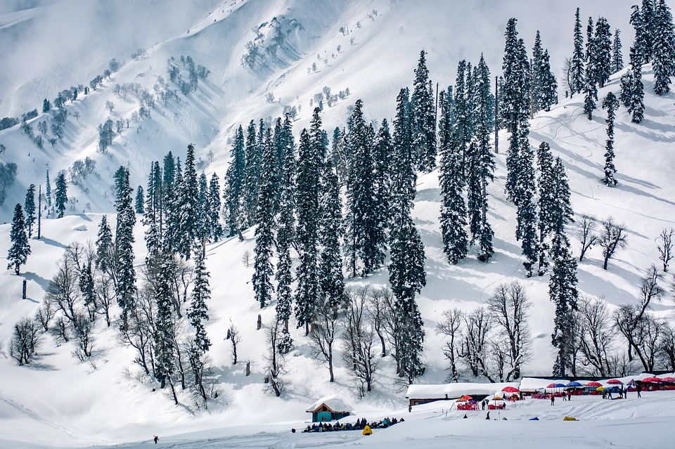 Gulmarg ski resort. Skiing and snowboarding one of the best adventure sports in India Pixabay royalty free image