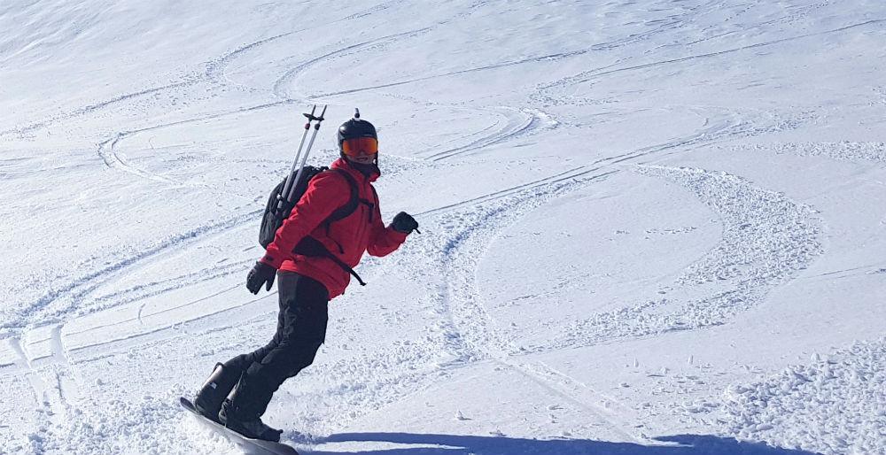Jamie Barrow snowboarding in Vatnahalsen Norway
