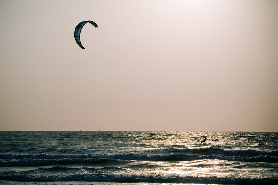 Kitesurfing one of the best adventure sports in India Flickr CC 2.0 image by chudo.sveta
