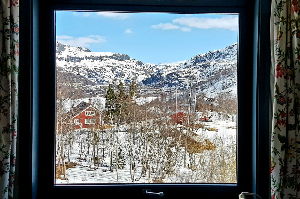 Review of Freeride the Fjords in Norway view from my room in Vatnahalsen Hotel