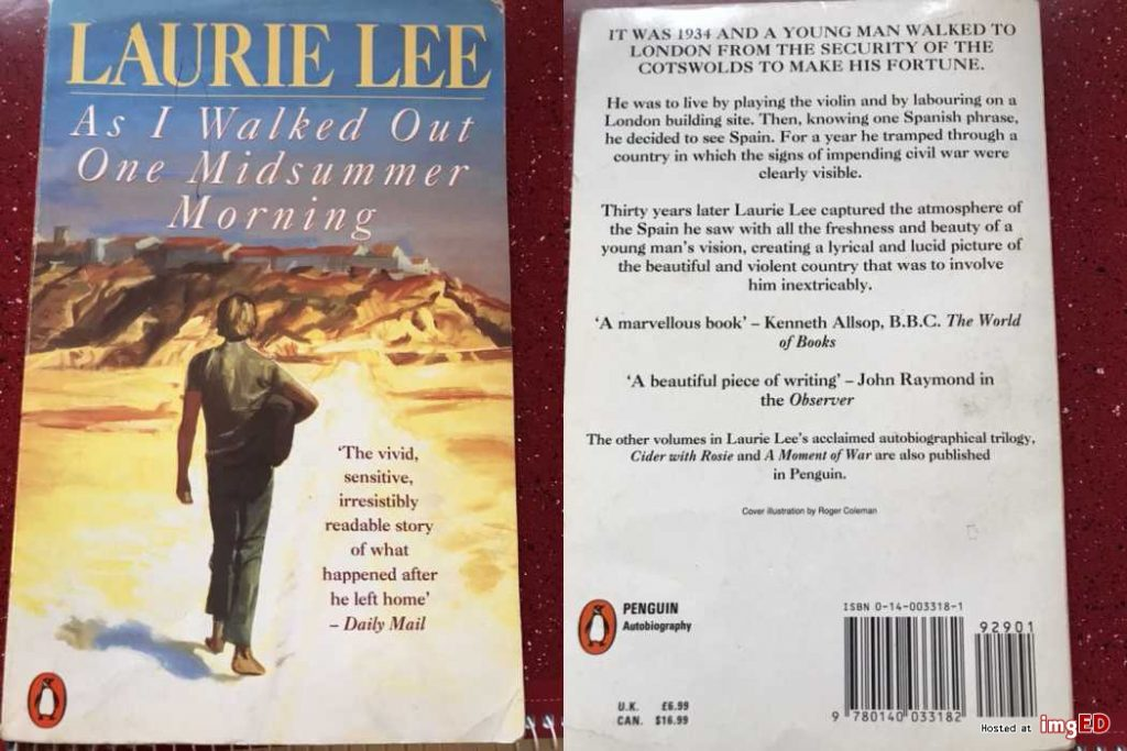 Original book cover of As I Walked out one Midsummer Morning by Laurie Lee