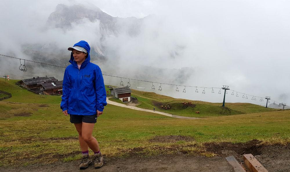 Helly Hansen Maridalen Shorts review in Val Gardena dolomites