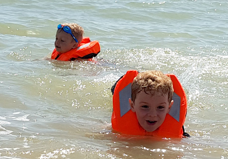 Kids having fun in the Jr Safe Life jackets: Buoyancy aids for all the family