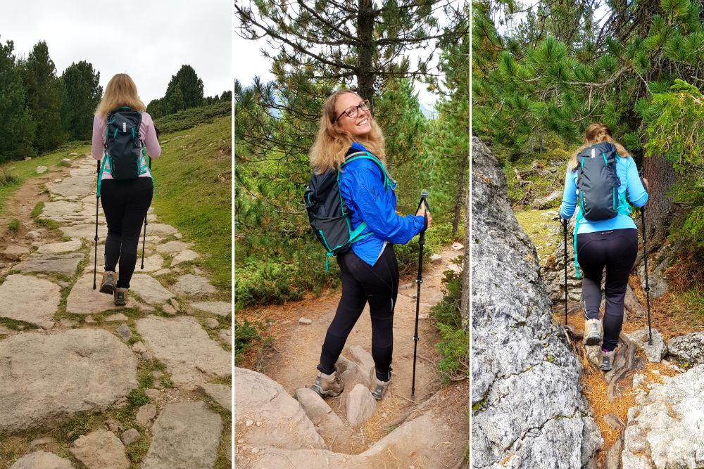 Lightweight daypack for hiking in Dolomite Val Gardena Ortisei Italy