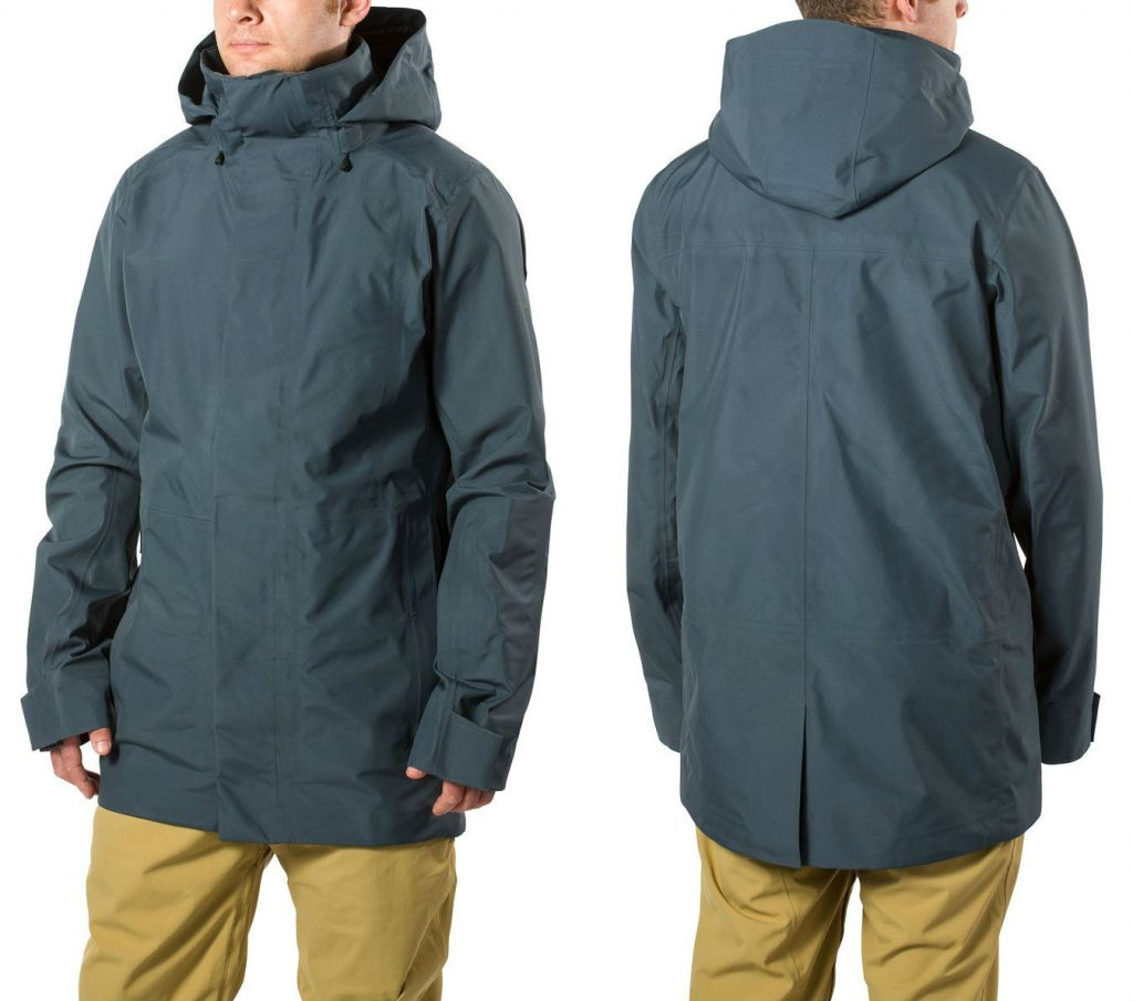 Review of Dakine Eliot 3L Gore-Tex Long stylish backcountry shell jacket front and back