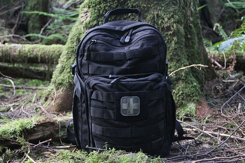 Tactical rucksack one of the many types of backpack for outdoor activities royalty free image from wikimedia by ~riley