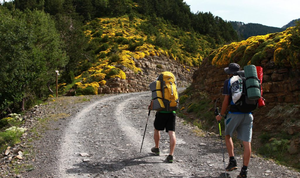 Types of backpack for outdoor activities royalty free image of trekking in Ordesa NP, Pyrenees, spain from pxhere