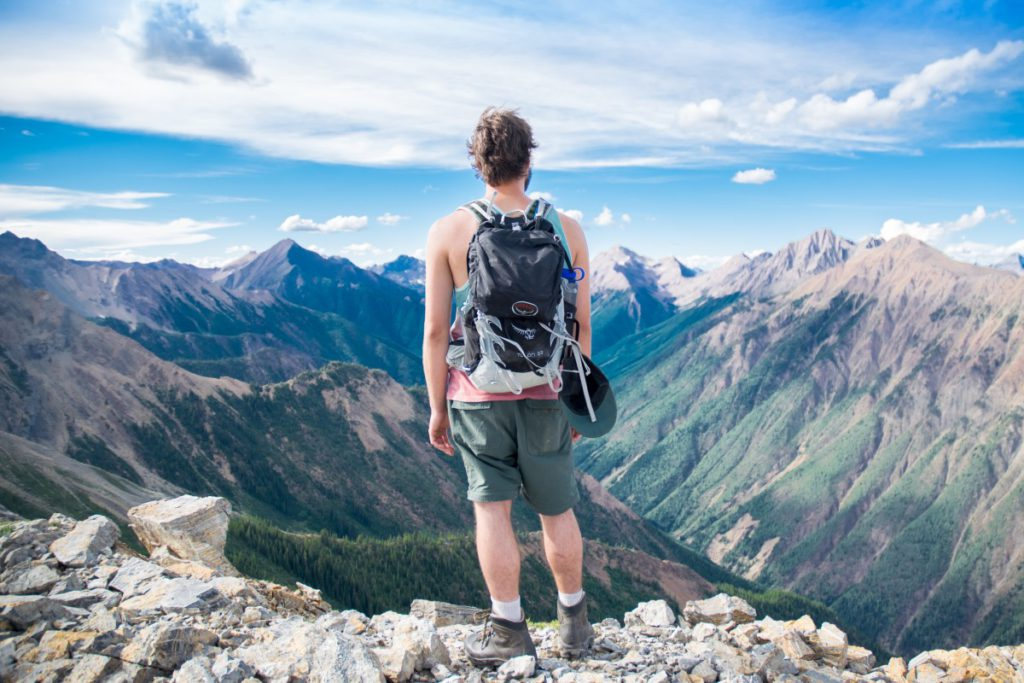 different backpack styles for outdoor activities royalty free image of hiking in the Alps from pxhere