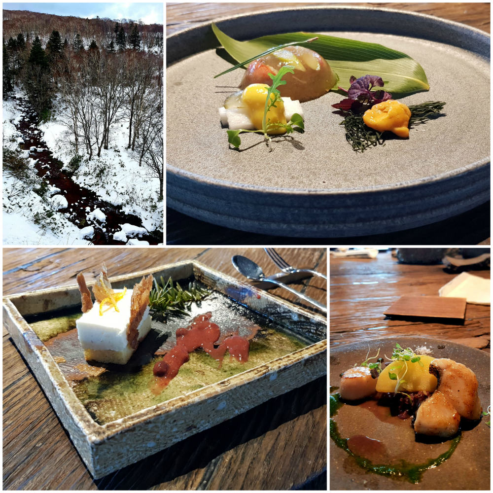 First direct Europe to Hokkaido flight Food near Niseko in Hokkaido, Japan