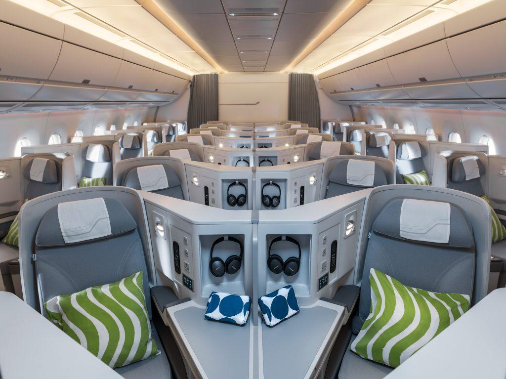 First direct Europe to Hokkaido flight business class with Finnair