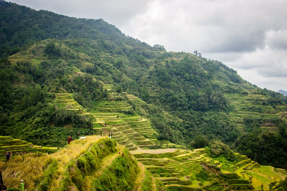 Philippines hiking rice terraces at Banaue one of the best Filipino action sports Pixabay royalty free image