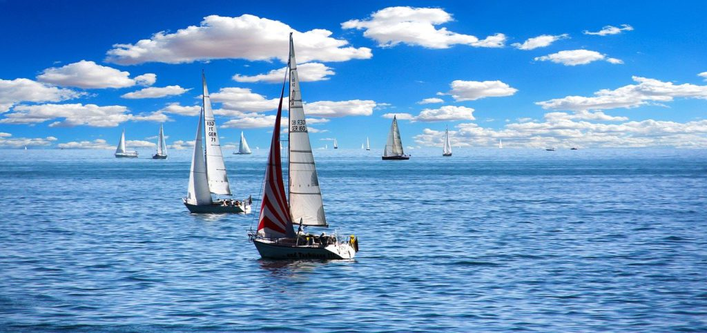 Sailing - Easy active breaks for the mildly adventurous Pixabay royalty free image