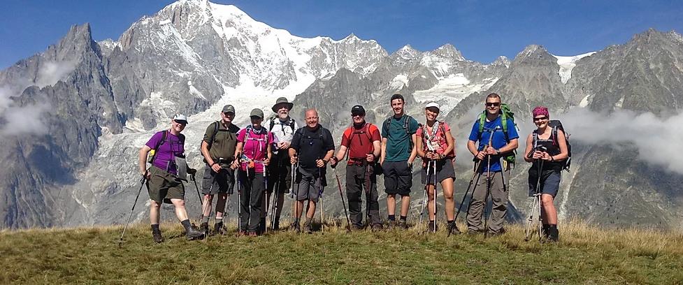 Tour du Mont Blanc image courtesy of Cloud 9 adventure