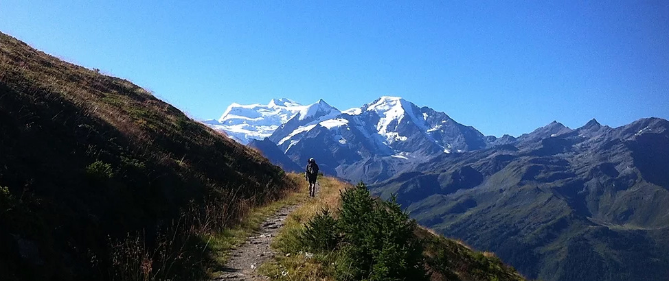 Alps trekking holiday: haute route image courtesy of Cloud 9 adventure