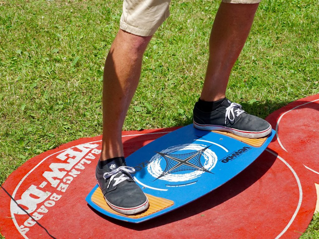 Balance board a great way to get fit for a snowboard holiday Royalty free image by needpix