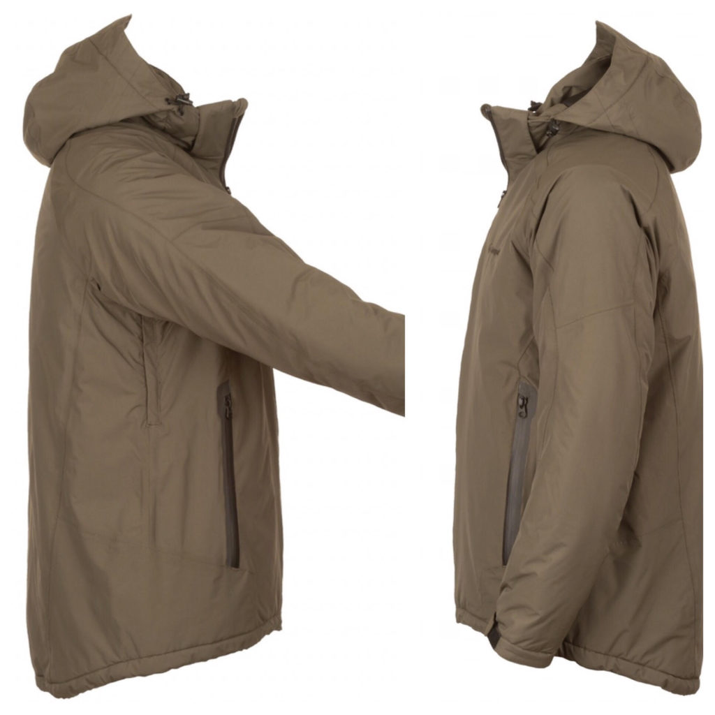 Snugpak Torrent Extreme jacket viewed from the side