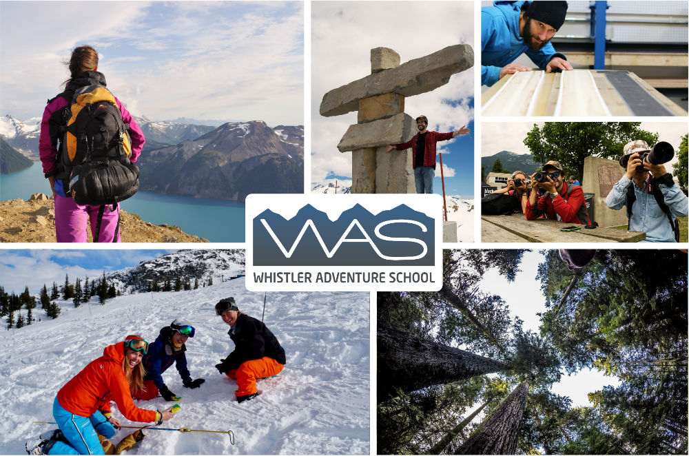 Whistler Adventure School in Canada collage