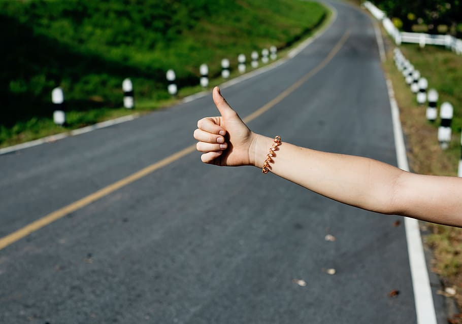 hitchhiking a great way to travel overland pxfuel royalty free image