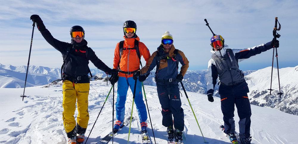 Amazing heli snowboarding in Turkey Day 1 crew Black sea in background with Jeremy Heitz