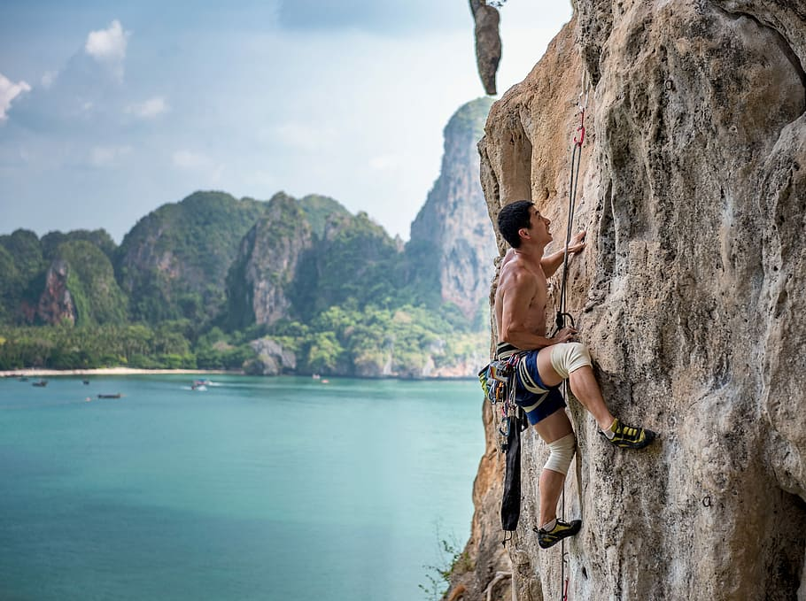 Climbing is one of the top 8 adventures in Thailand Piqsels royalty free image