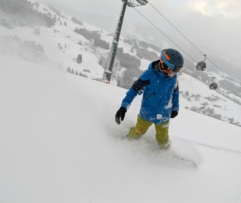 Day 2 Review of Skicircus snowboarding holiday in Saalbach