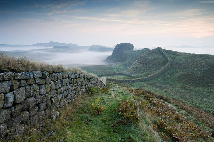 Hadrian's wall one of the top 10 cultural trekking breaks Royalty free image by Wallpaper Flare