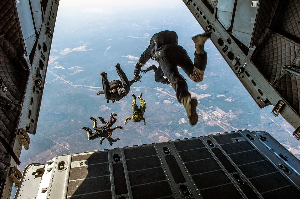 How expensive is skydiving as a hobby Pixabay royalty free image