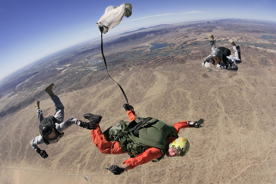 Jump ticket skydive costs How expensive is skydiving as a hobby Pixabay royalty free image