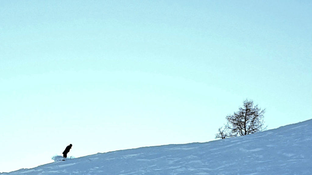 Offpiste in Fieberbrunn during review of Skicircus snowboarding holiday