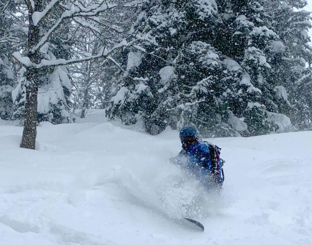 Snowshoeing then snowboarding in Turkey Kackar Mountains Photo By Sebastien Marcelin-Rice