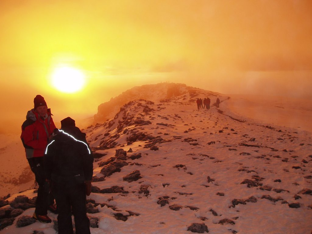 best african adventures - kilimanjaro summit sunrise needpix royalty free image
