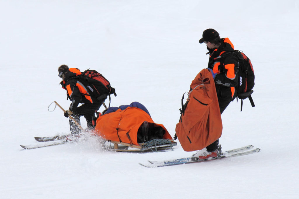 pisteur ski patrol one of the best jobs in ski resorts Royalty free image from PublicDomainPictures by Petr Kratochvil