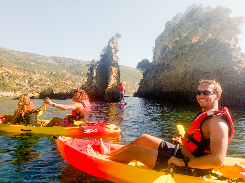 Group Sea Kayak tours in Arrábida National Park, Portugal
