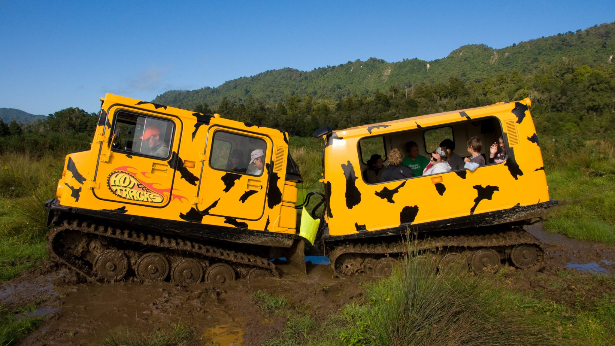 Greymouth Hagglund off-road adventure in New Zealand