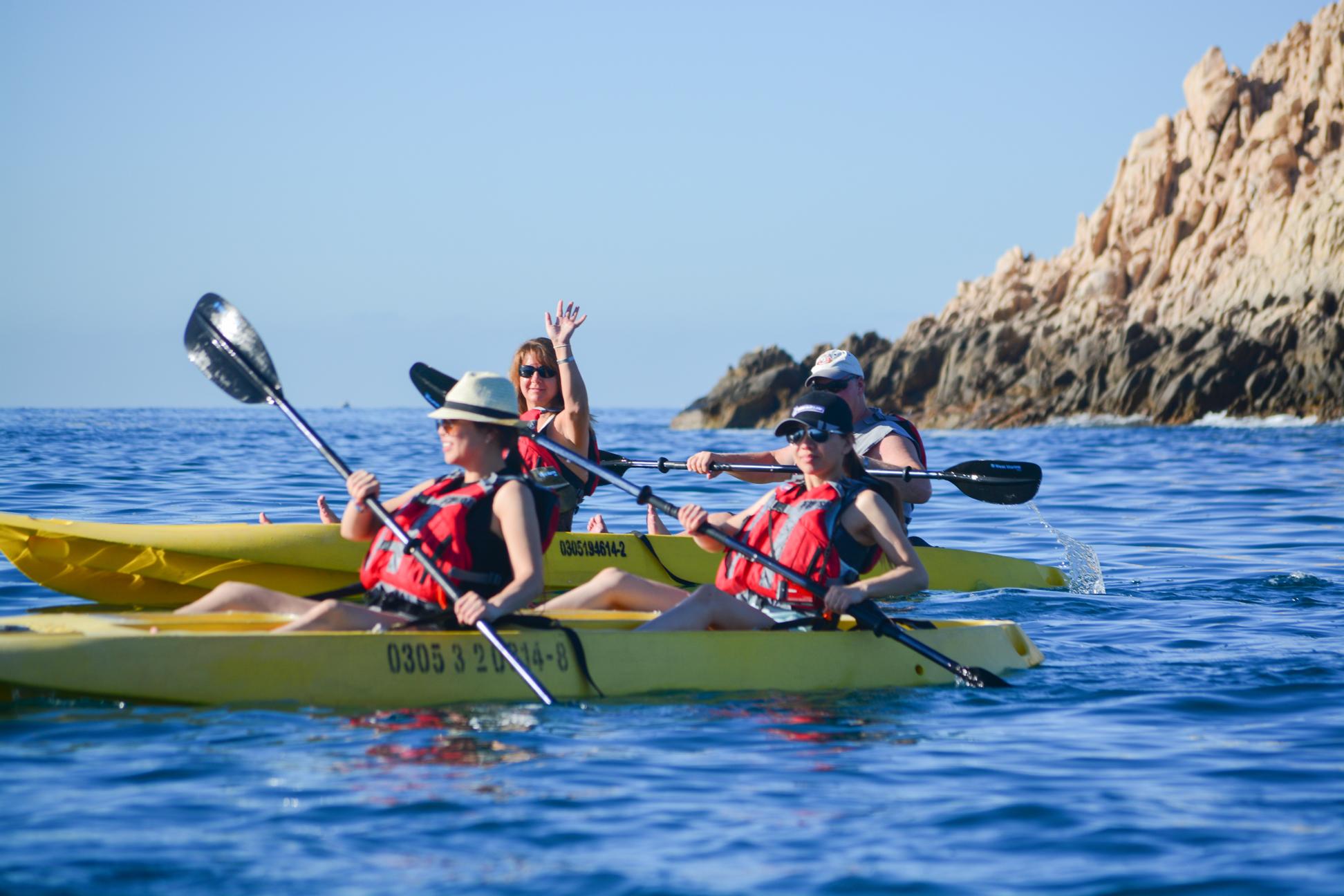 Cabo kayaking and snorkeling in Santa Maria and Chileno Bay