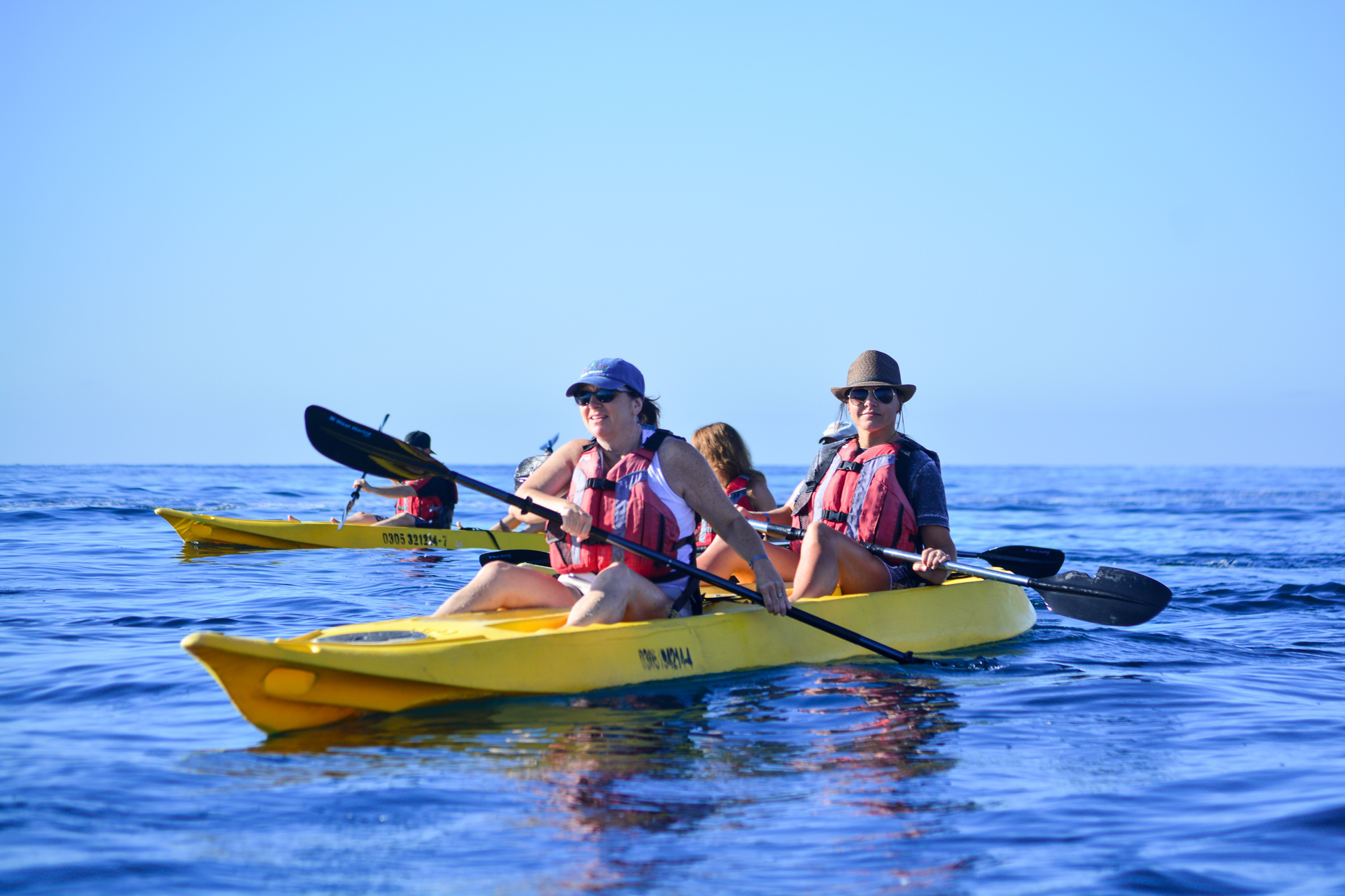 Private glass bottom kayak and snorkel tour of Santa Maria