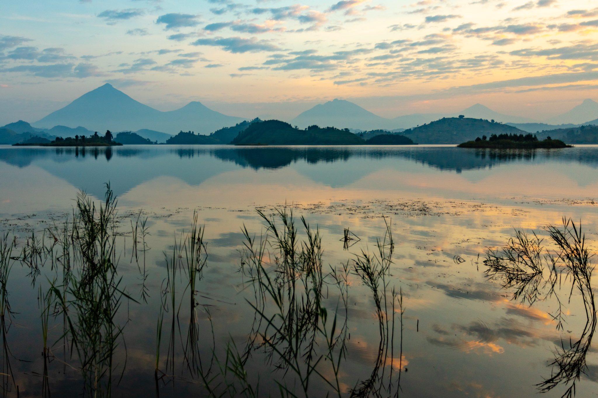 Uganda canoe trip: Sunrise or sunset canoeing at Lake Mutanda