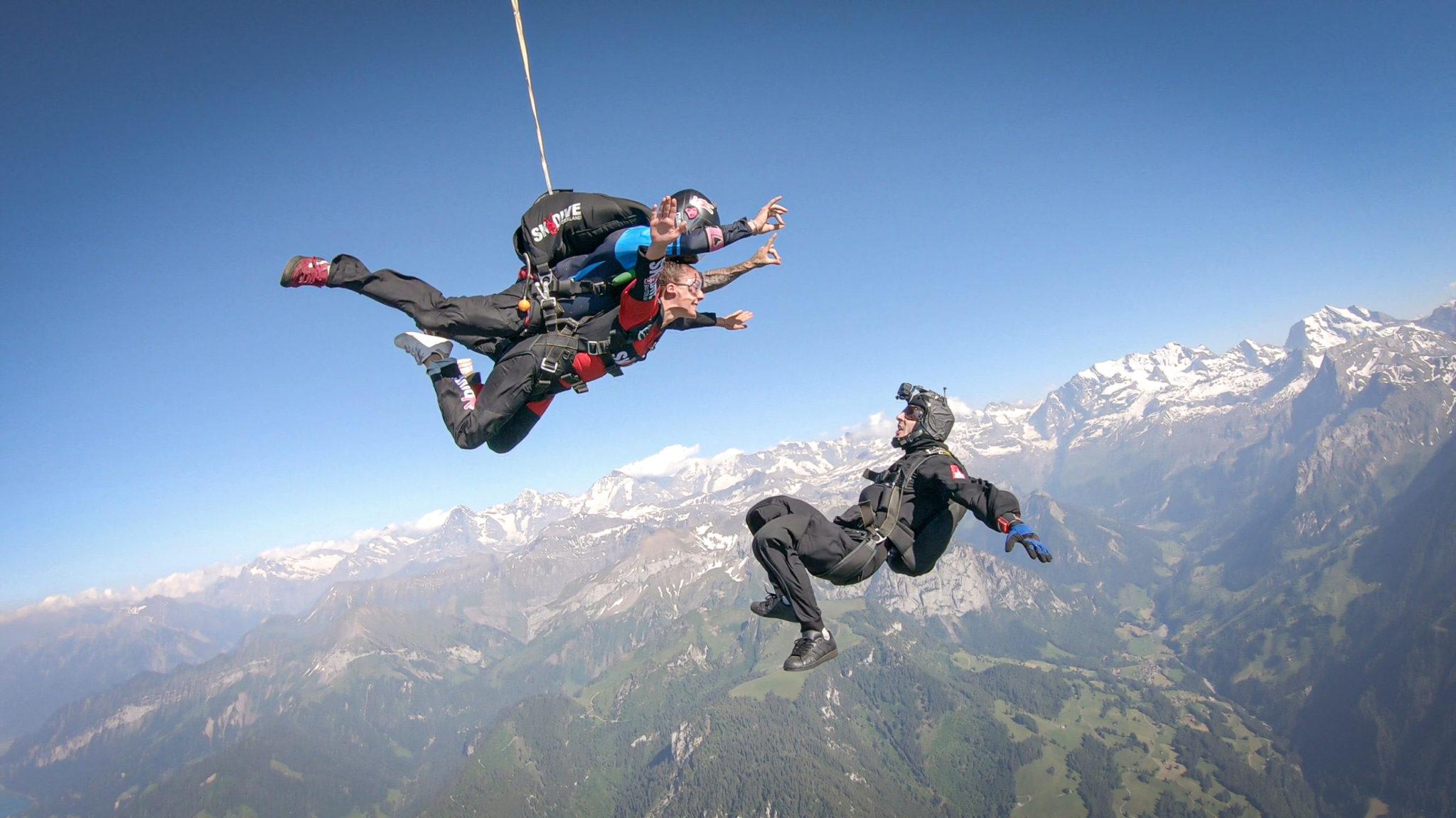 Tandem Skydiving in Switzerland