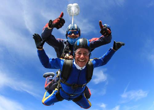 Nottingham Tandem Skydive experience at Langar Airfield, UK