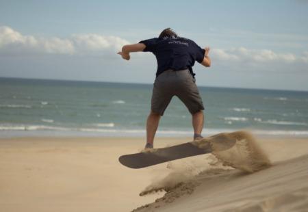 South Africa Sandboarding at Jeffreys Bay