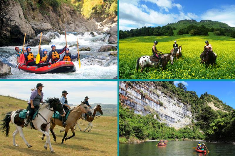 New Zealand Multi Activity Adventure Holiday: Raft & Horseriding