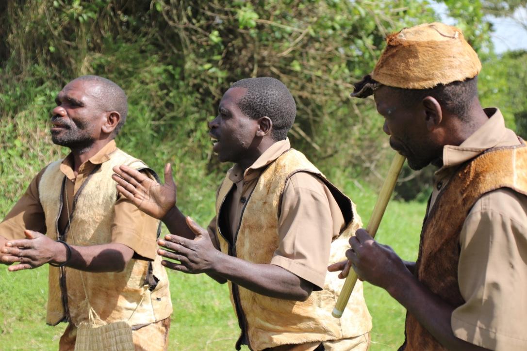Batwa cultural experience at Mgahinga Gorilla Park, Uganda