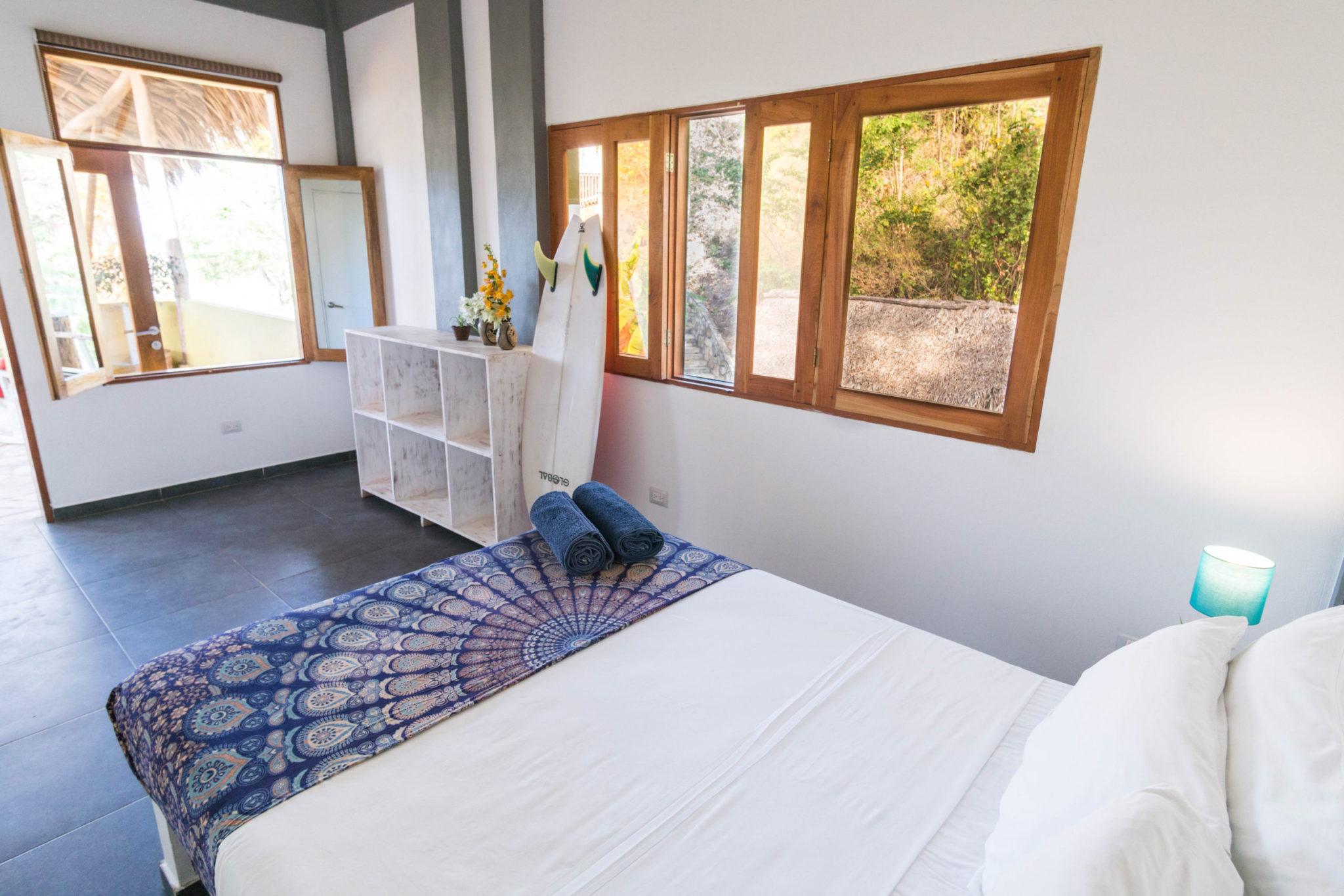 Playa Maderas surf resort in Nicaragua: Private AC Suite