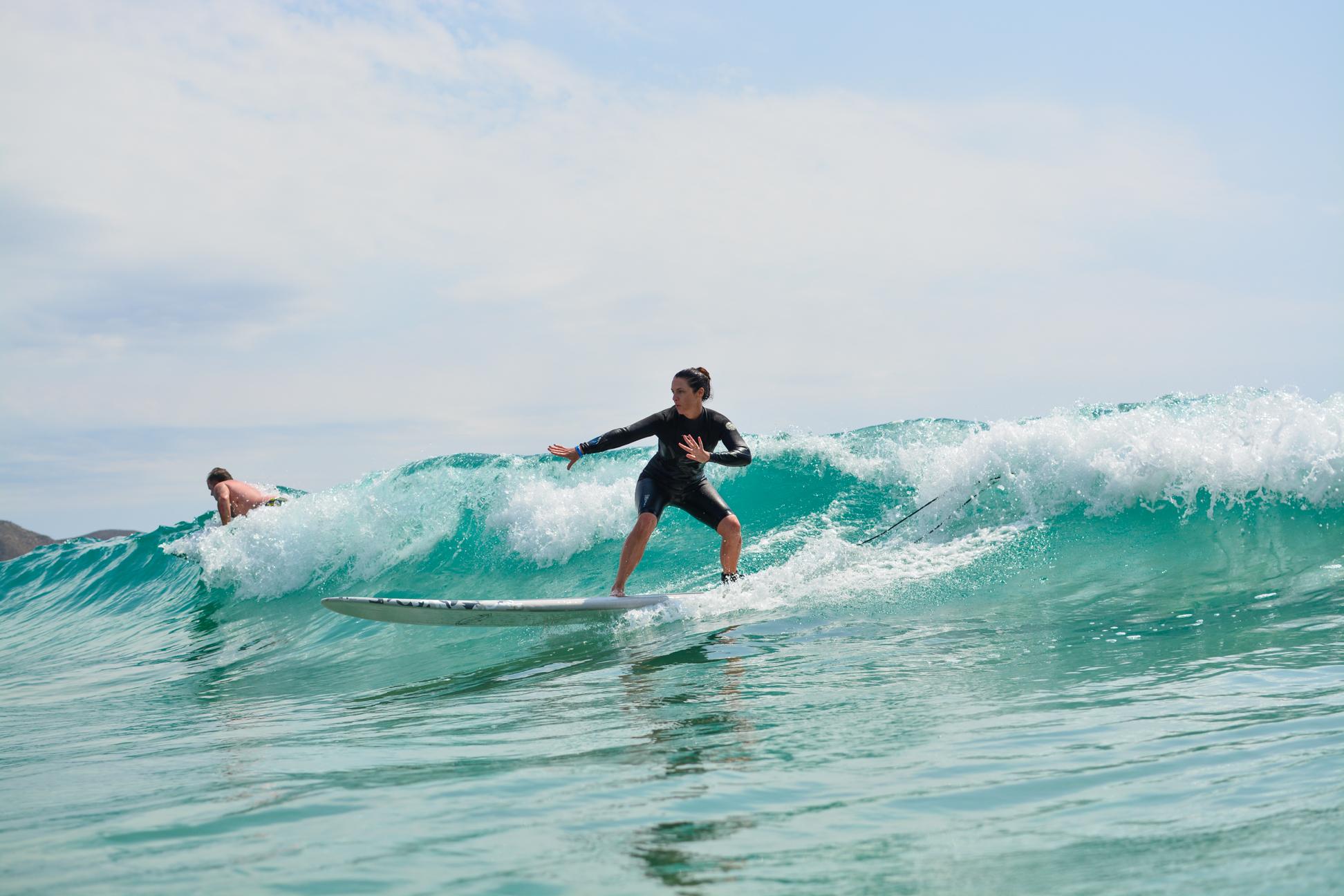 Private winter surf tuition at Cerritos, Baja California, Mexico