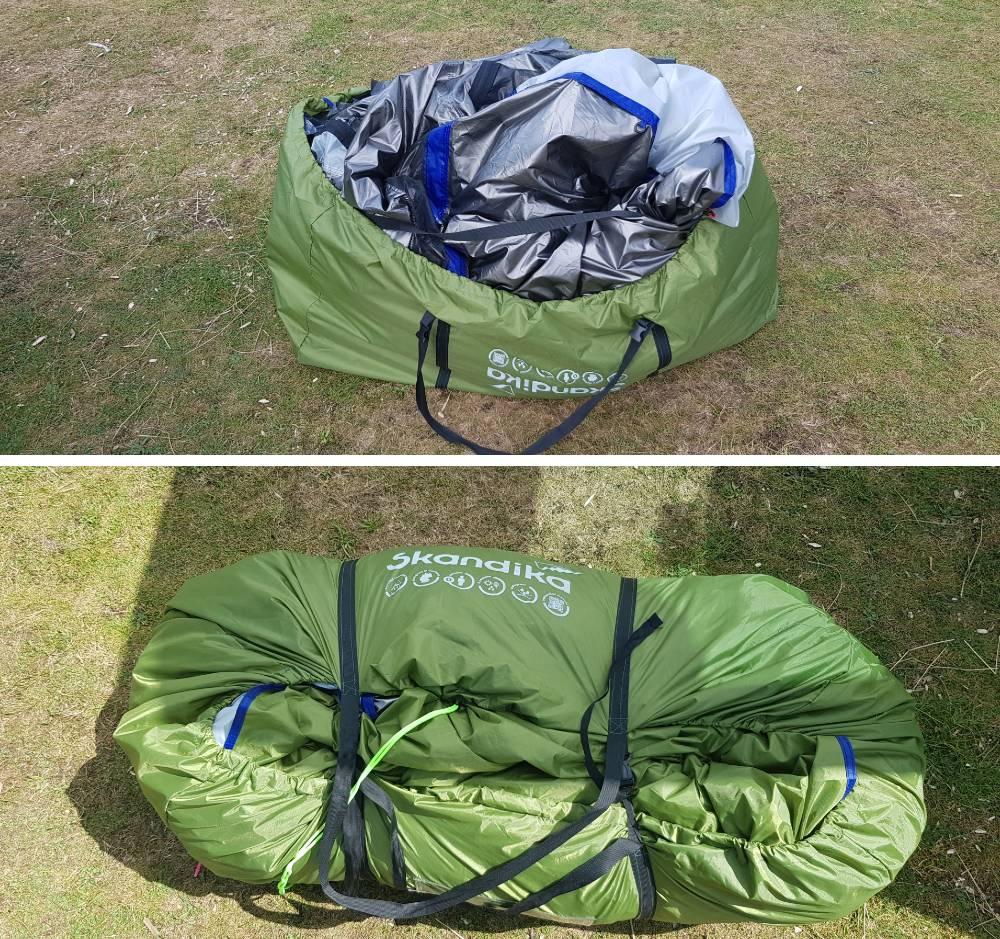Skandika Montana 8 sleeper review packing into the bag
