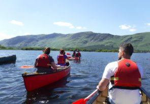 Derwentwater canoeing experience in Keswick