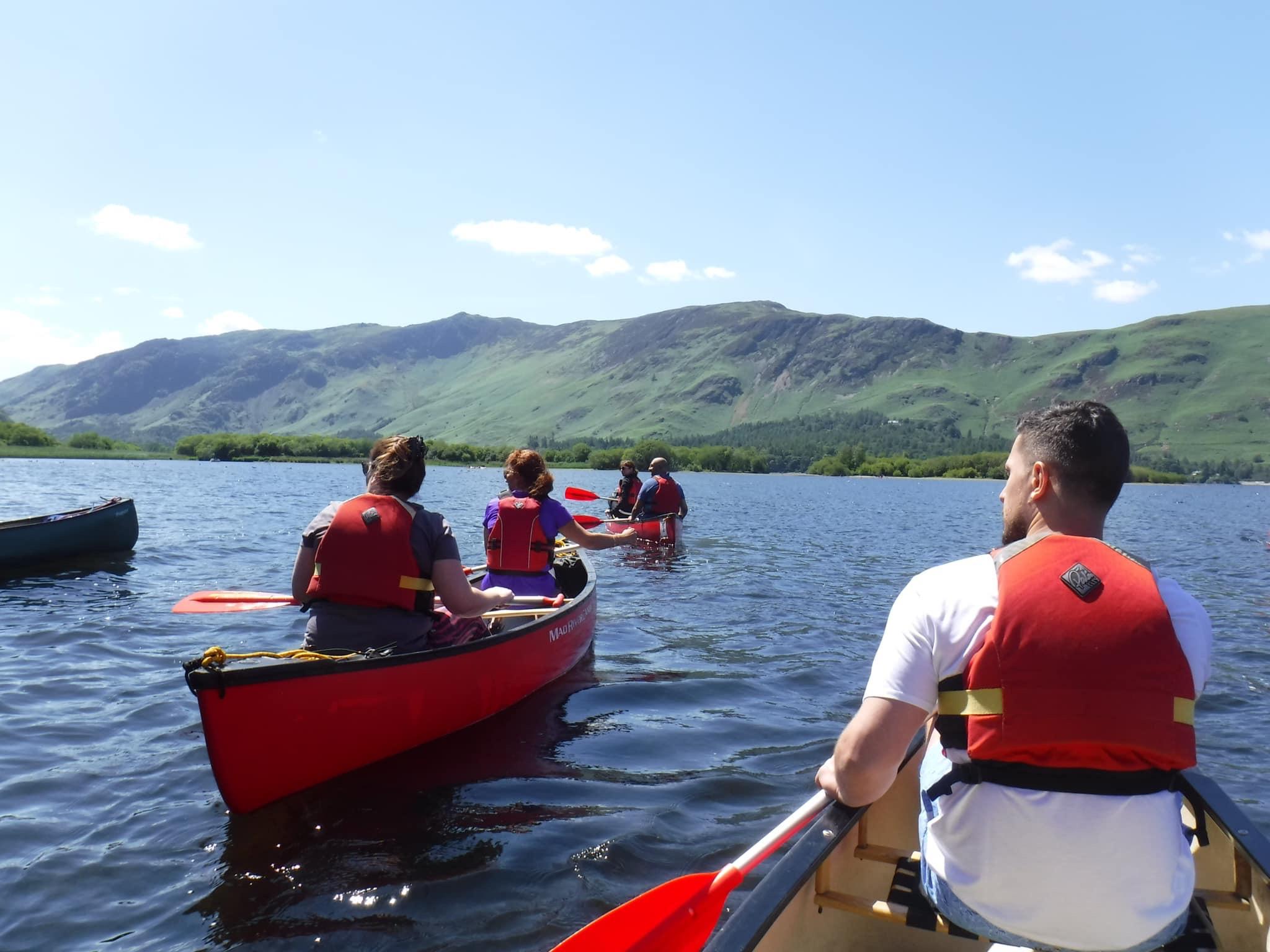 Derwentwater canoeing experience in Keswick: Lake District canoe
