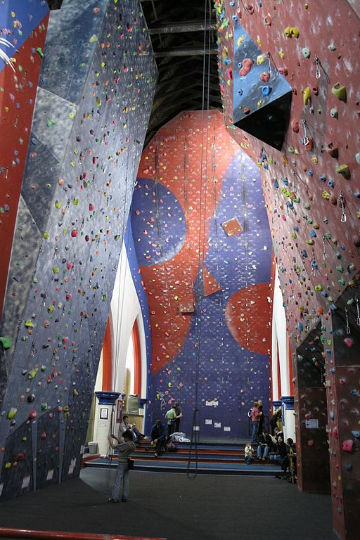 Climbing at Awesome Walls one of the best merseyside adventure sports Wikimedia CC image by Matěj Baťha