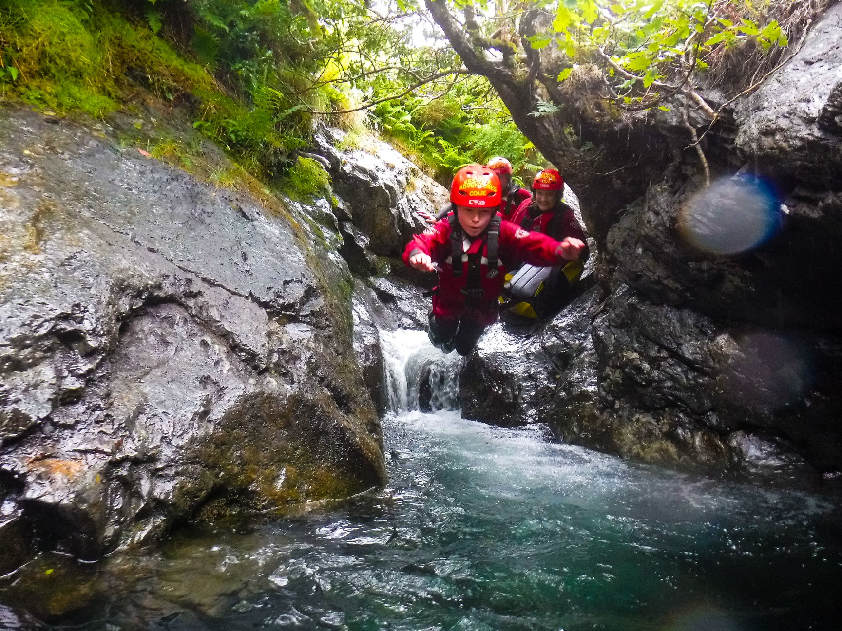Lake District ghyll scrambling experience in Keswick