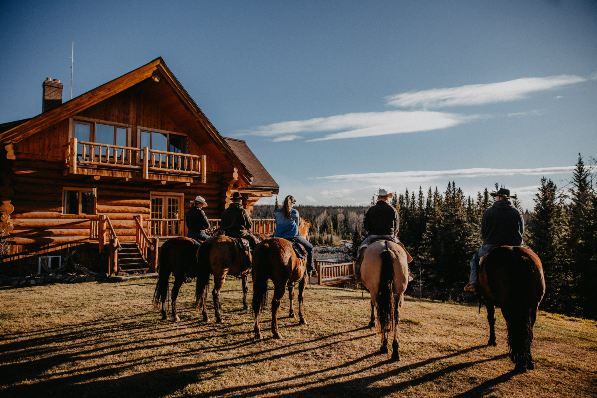 Big Creek Lodge in Canada: Horse riding accommodation in Cariboo